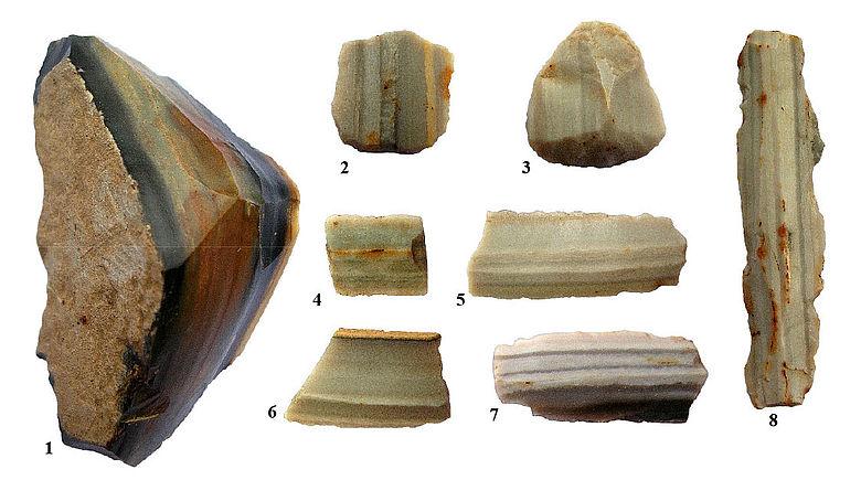 Schilterner Artefakte aus Arnhofener Plattenhornstein