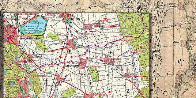 Karte historische Landschaft