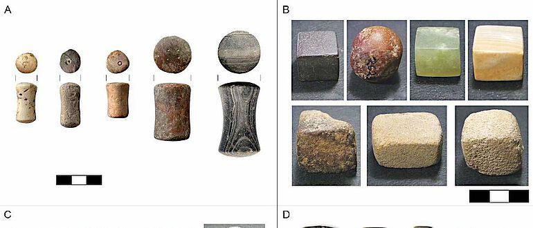 Beispiele für westeurasische Ausgleichsgewichte der Bronzezeit