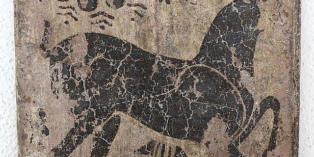 Steinbock auf der Seitenleiste eines Klazomenischen Sarkophags