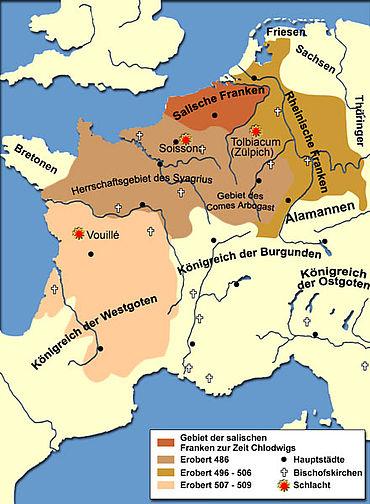 Politische Situation in Europa am Ende des 5. / Anfang des 6. Jahrhunderts