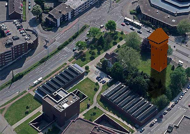 Blick voraus: das LWL-Museum bekommt eine Burg in der Nachbarschaft. (Darstellung: LWL)