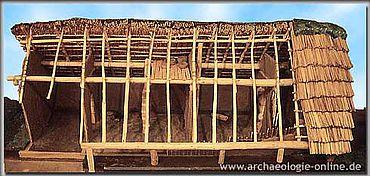 Modell des Steinzeithauses von Flögeln