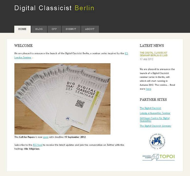 Homepage Digital Classicist Berlin