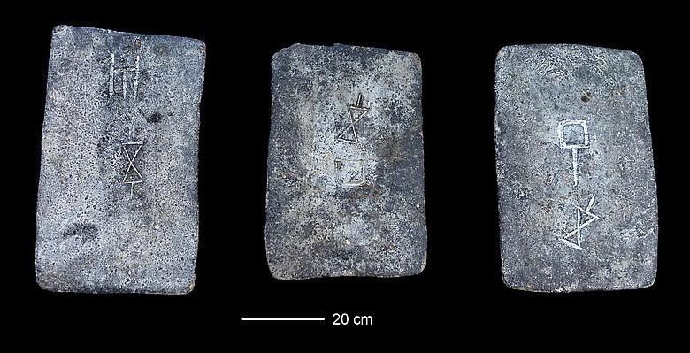 Bronzezeitliche Zinnbarren