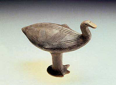 Jüngstbronezezeitliche Vogelklapper. Foto: Juraj Liptàk, Landesamt für Archäologie Sachsen
