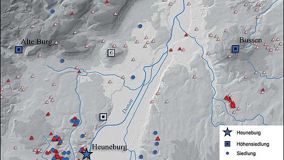 Keltische Fundstätten und geplante Ausgrabungen im Umfeld der Heuneburg