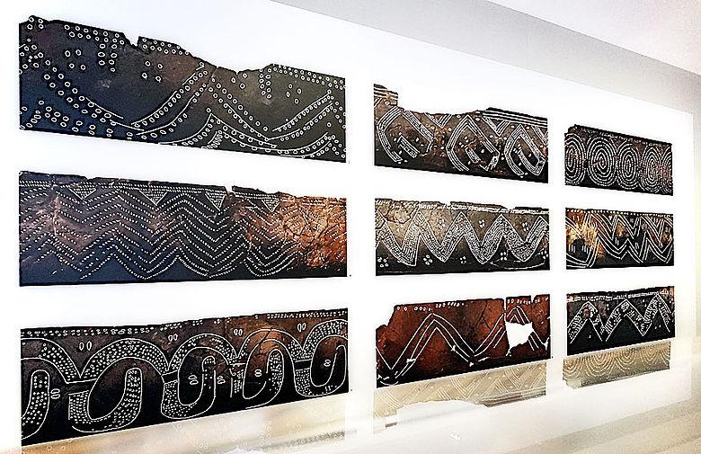 Scans von Keramik-Verzierungen der Jungsteinzeit
