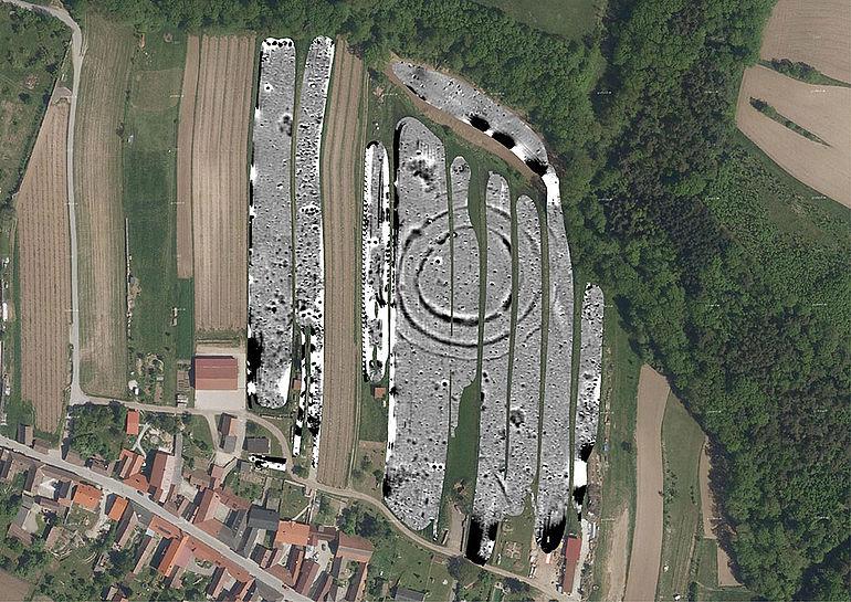 Kreisgrabenanlage Schiltern: Geomagnetik