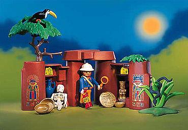 Playmobilarchäologe. (Foto: Mit freundlicher Genehmigung von PLAYMOBIL. PLAYMOBIL ist eine geschützte Marke der geobra Brandstätter GmbH & Co. KG)