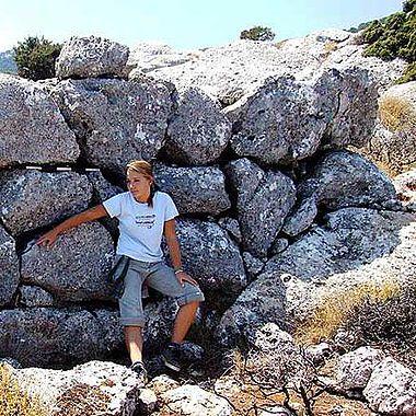 Abb. 3| Minoisch onkolithische Ruine, Bereich Historischer Landschaftspark Kroustas © S. Beckmann