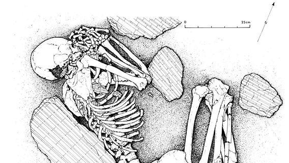 Befundzeichnung: Grab von Pendimoun F2