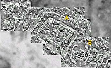 """Magnetogramm der Bereiche """"Zitadelle"""" (A) und """"Heiligtum"""" (B) (Quelle: GGH, Freiburg)"""