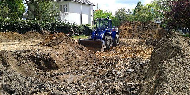 Die Arbeiten für das Grabungscamp am LWL-Museum für Archäologie in Herne haben begonnen. (Foto: LWL/Lagers)