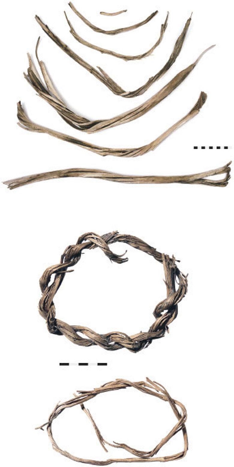 Geflochtene Ringe aus der Bronzezeit