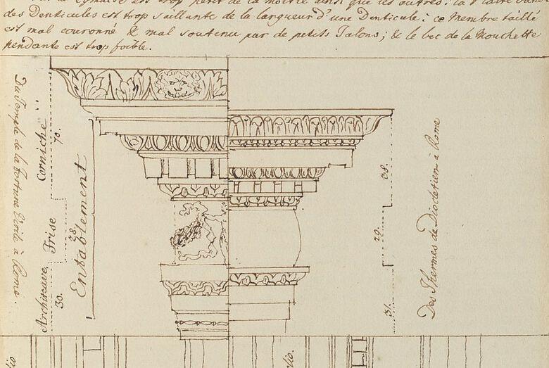 Teil einer Seite aus den Exzerptheften von Johann Joachim Winckelmann