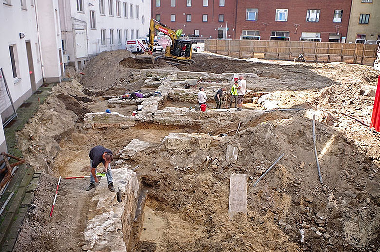Ausgrabungen am Alten Markt in Bielefeld