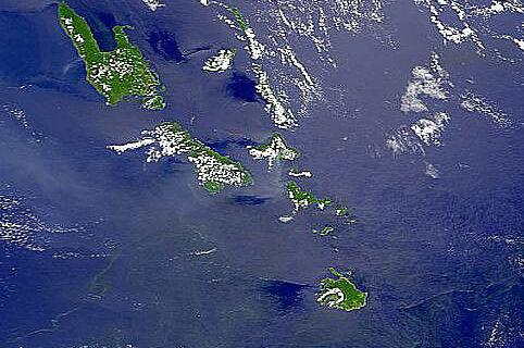 Vanuatu, Satellitenbild vom Oktober 1998