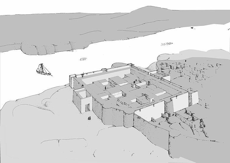 Frühe ägyptische Festung von Elephantine