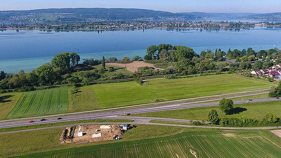 Überblick über die Grabungsfläche bei Allensbach am Bodensee