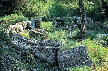 Antike Aufbereitungsanlage für Silbererz in Laurion