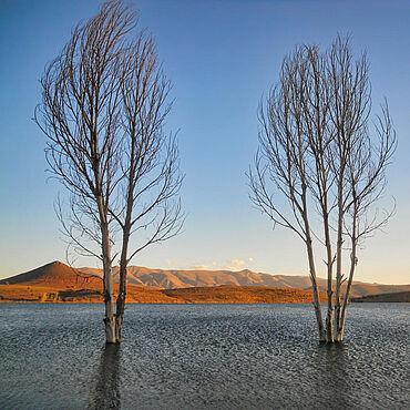 Der Tislit-See liegt im marokkanischen Hohen Atlas