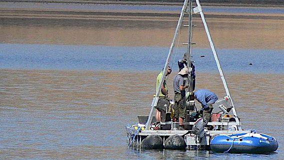 Das internationale Forschungsteam während der geowissenschaftlichen Feldkampagne am Sidi-Ali-See im Mittleren Atlas Marokkos