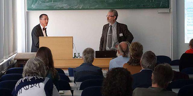 Prof. Dr. Rind und Dr. Bernhard Stapel