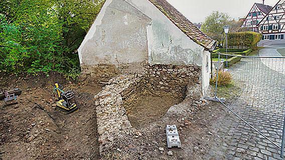 Mauerreste der Liebfrauenkapelle Leutkirch