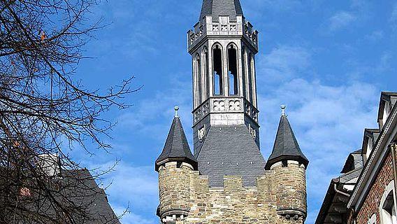 Der Granusturm gab durch die erforderliche Dachsanierung den Auftakt zu den umfangreichen Bauaufnahmen. Foto: © RWTH Aachen