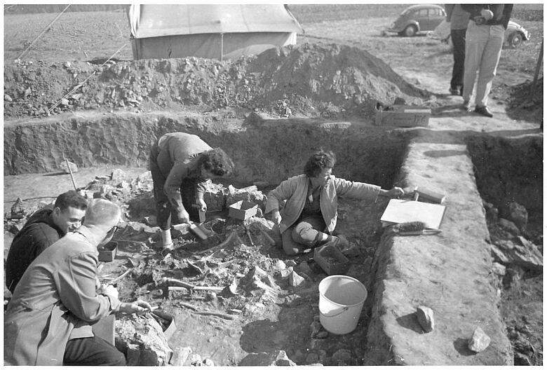 Ausgrabung Niedertiefenbach 1961