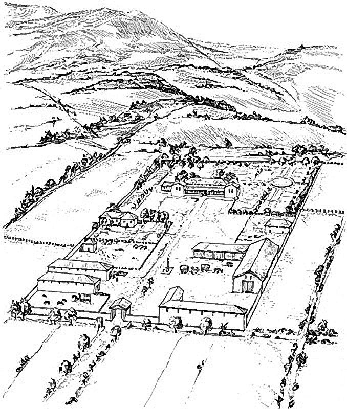 villa rustica - Rekonstruktionszeichnung