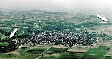Luftbild der Gemarkung Merdingen
