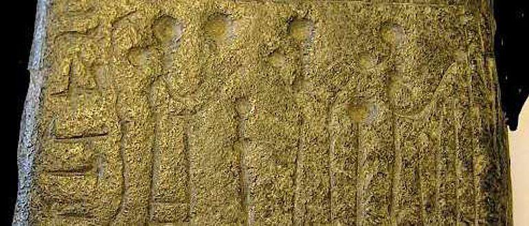 Steinamulett aus Sendschirli mit aramäischer Inschrift