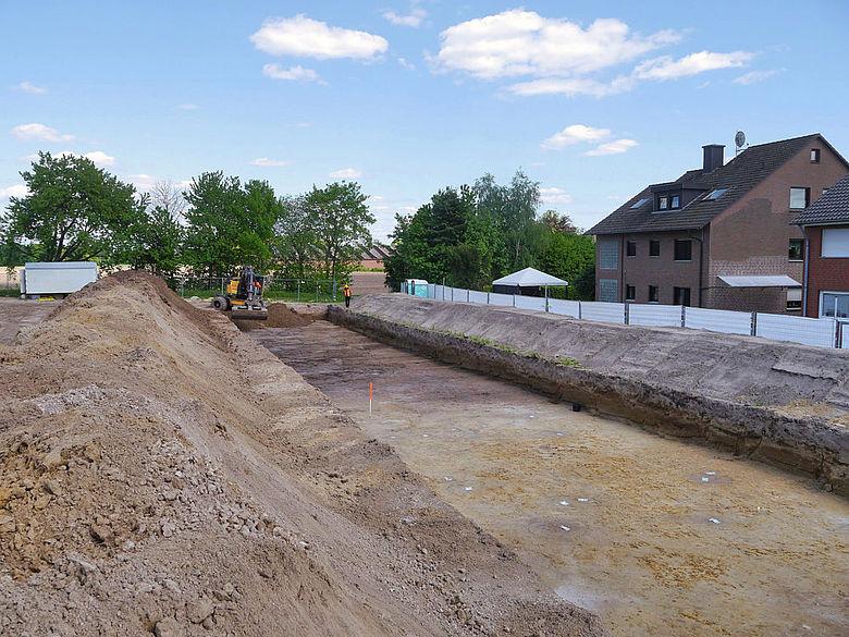 Ausgrabungsfläche in Warendorf