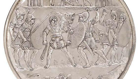 Kopie eines byzantinischen Silbertellers aus der Sammlung des RGZM