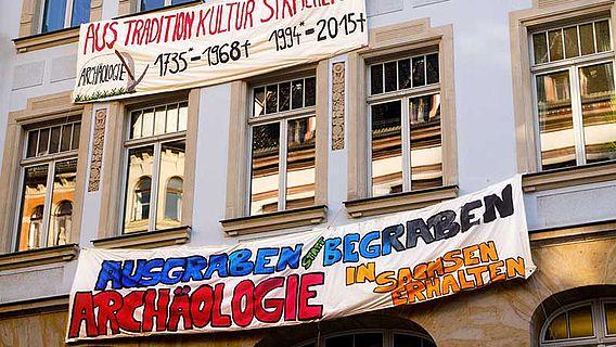 Transparente am Leipziger Institut für Klassische Archäologie