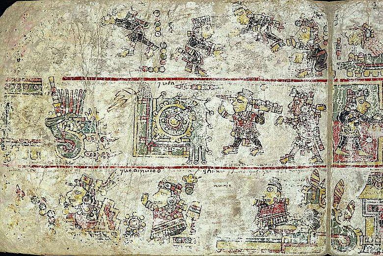 Auszug aus dem Codex Colombino, einem mixtekischen Codex vermutlich aus dem 12. oder 13. Jh.