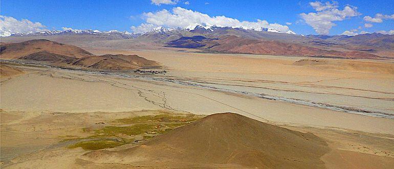 Ausgrabungsstätte Su-re im tibetischen Hochland