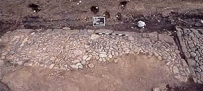 Abb. 2 Kieselpflasterung. © Landesamt für Archäologie Sachsen