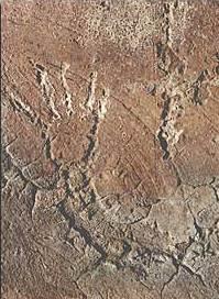 Abbildung eines Armes an der Höhlenwand. (Foto: U. W. Sahm)