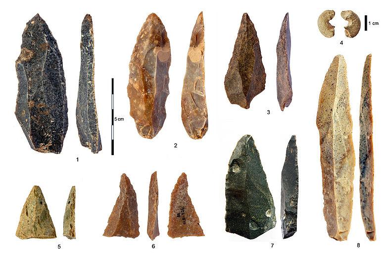 jungpaläolithische Steinartefakte
