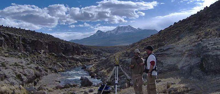 Radarmessungen auf dem Andenplateau