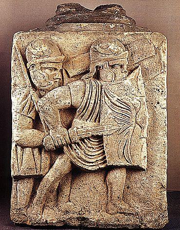 Darstellung römischer Legionäre