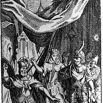 Titelkupfer zu: Arminius Tragédie. In: Oeuvres de M. de Campistron, 1722 (Lippische Landesbibliothek)