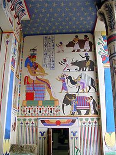 »Ägyptische« Malerei im Zoo von Antwerpen. (Foto: Cornelius Holtorf)