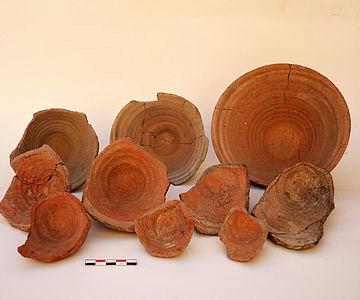 Keramik aus der ältesten Siedlungsschicht