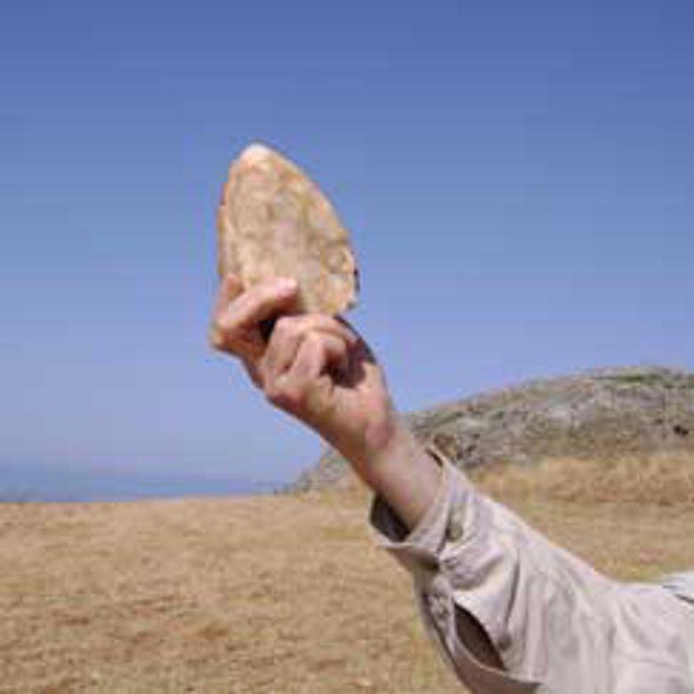 Einer der auf Kreta gefundenen Faustkeile. Foto: Nicholas Thompson