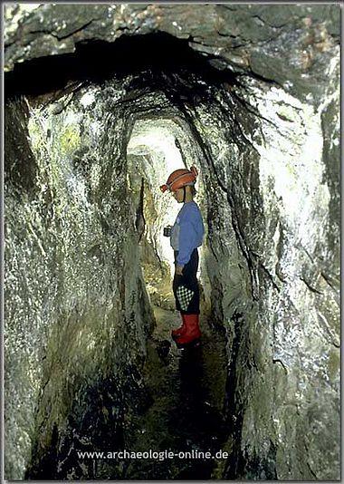 Neuzeitlicher Streckenabschnitt in der Grube Victoria
