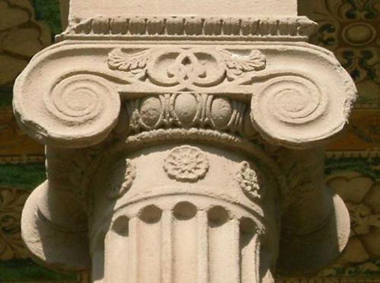 Ionisches Kapitell eines römischen Hauses im Jenaer Stadtteil Drackendorf. (Foto: Alexander Häring/FSU)